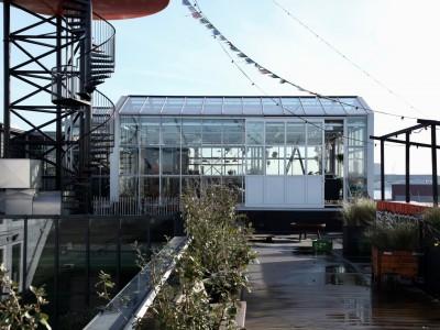Daktheater glasoverkapping als restaurant met zonwering 5
