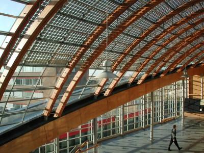 BIPV PVpanele glasoverkapte ruimte atrium 2