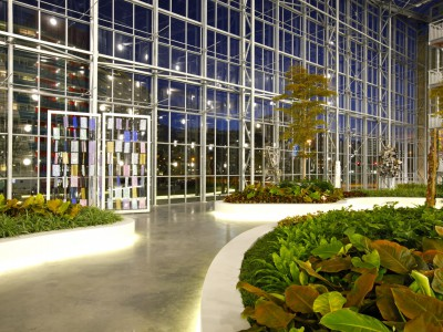 Atrium glasoverkapping vliesgevels 8