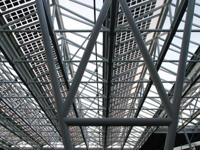 Glasoverkapping atrium met PV panelen BIPV 2