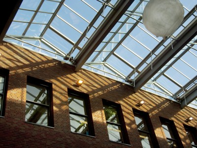 Glasoverkapping atrium school geisoleerd glas 5