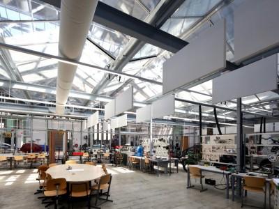 Kas als glasoverkapping praktijklokaal school 8