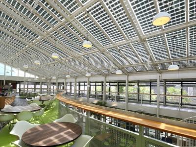 Solarpanelen BIPV PV geintegreerd in glasoverkapping 2