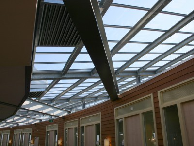 Energiezuinige klimaatgevel gesegmenteerde glasgevel 3
