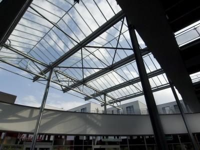 Transparante glaskap winkelcentrum glazen galerijgevels liftgevels 2