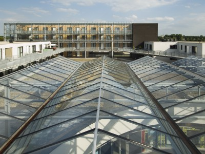 Transparante glaskap winkelcentrum glazen galerijgevels liftgevels 4