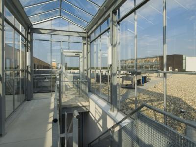 Transparante glaskap winkelcentrum glazen galerijgevels liftgevels 6