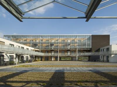 Transparante glaskap winkelcentrum glazen galerijgevels liftgevels 7