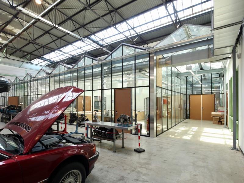 Kas als glasoverkapping praktijklokaal school 1
