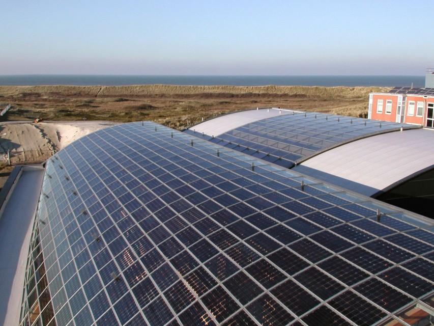 BIPV PVpanele glasoverkapte ruimte atrium 1