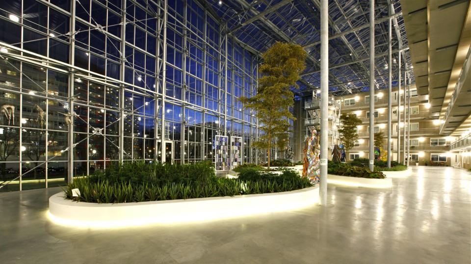 Atrium glasoverkapping vliesgevels 1